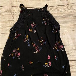 Forever 21 Tops - Black flower tank top